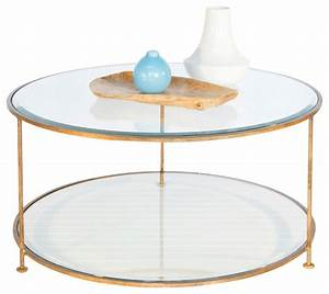 Worlds away gold leaf iron round coffee table with beveled for Glass top circle coffee table