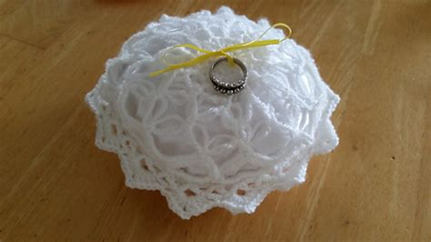 ravelry is in the air ring bearer pillow pattern by