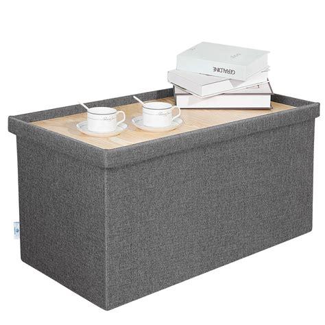 Storage Ottoman Table - b fsobeiialeo storage ottoman with tray linen coffee