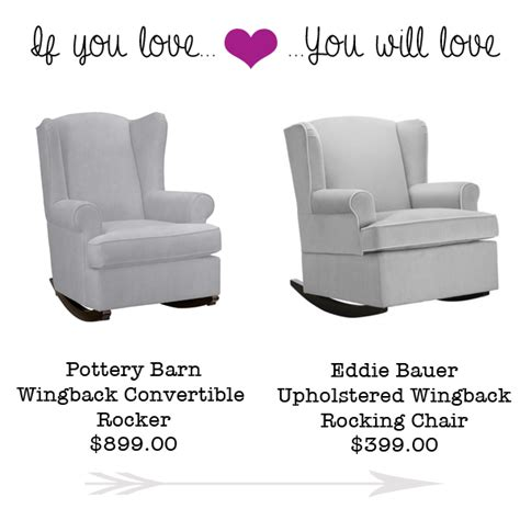 eddie bauer wingback rocking chair if you the pottery barn wingback rocking chair you
