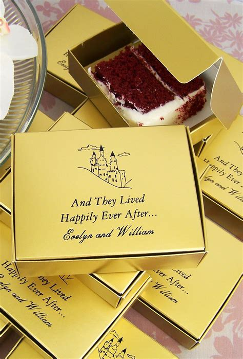 cake slice favor boxes set   wedding dreams