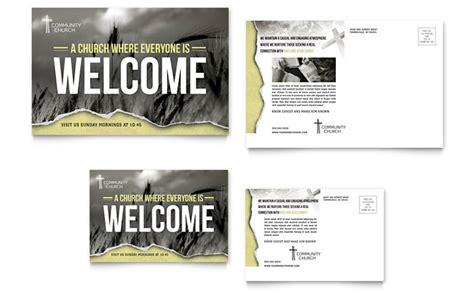 bible church postcard template design