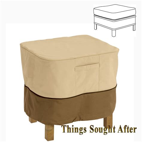small ottoman covers cover for 21 quot small square ottoman or table outdoor