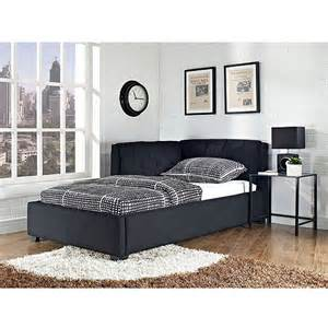 tufted lounge reversible twin bed black walmart com