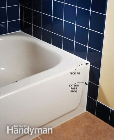 Tiling A Bathtub Lip by Tile Layout For Tubs And Showers The Family Handyman