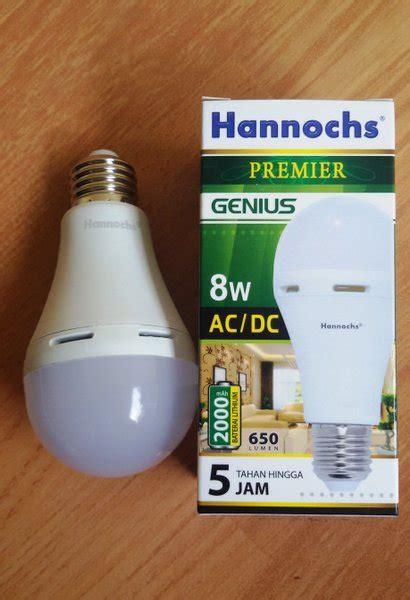 jual lampu led emergency ac dc hannochs  watt  lapak