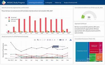 Clinical Research Dashboard Mosaic Example Monitor Using