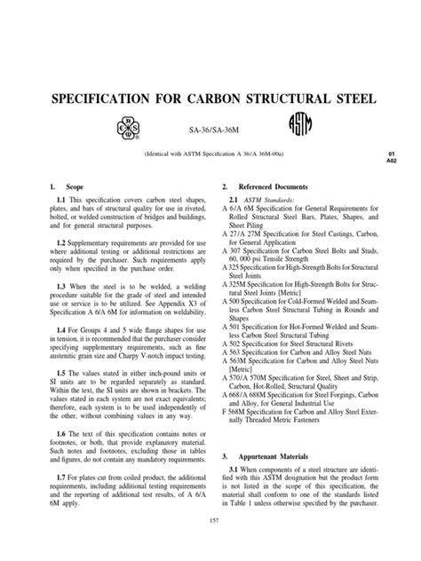 SA-36 | Structural Steel | Steel