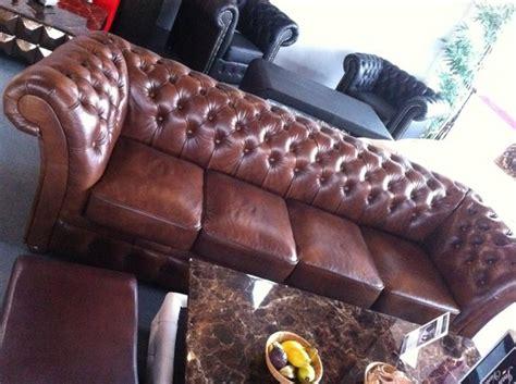 chesterfield big sofa chesterfield 270cm big sofa leder sofa 5 sitzer garnitur winchester