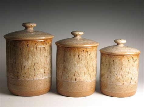 ceramic canisters for the kitchen stoneware canisters archives brent smith pottery brent