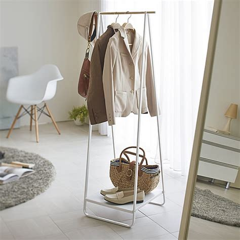 STORE   Slimline Coat Stand with Shelf   Scandi