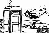 Coloring Toilet Underwater Diver Pages Wecoloringpage Cartoon sketch template