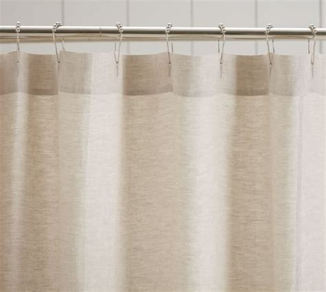 Pottery Barn Curtains Linen by Linen Ruffle Shower Curtain Pottery Barn