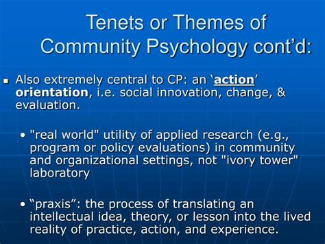 Community Psychology In The United States
