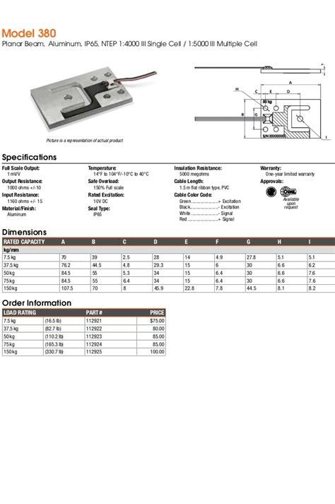 tedea huntleigh load cell catalog 2015