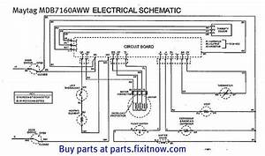 Maytag Mdb7160aww Dishwasher Schematic With Bonus Service Bulletin