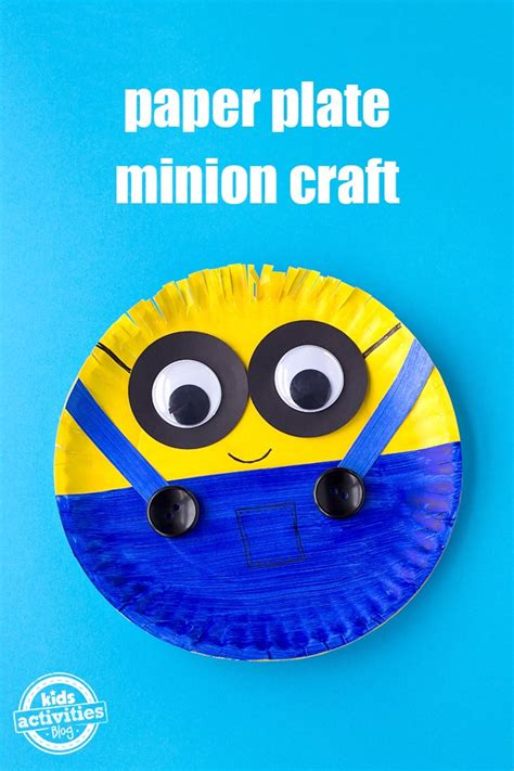 easy paper plate minion craft kids activities