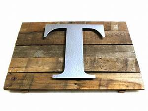 best 20 metal letters ideas on pinterest rustic nursery With wood and galvanized metal letter