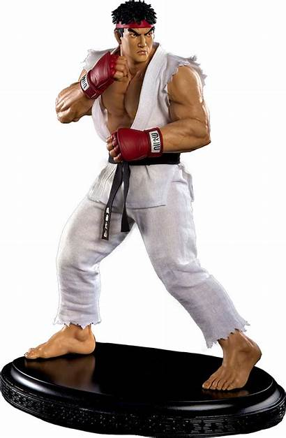 Fighter Street Ryu Statue Personagens Mixed Scale