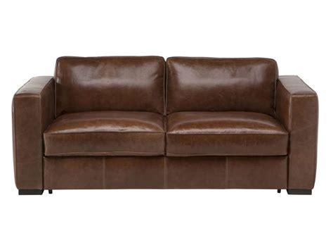 canapé cuir 3 places conforama canapé fixe 3 places en cuir havane coloris marron vente