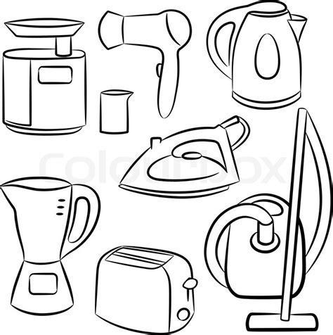 Household appliances   Stock Vector   Colourbox