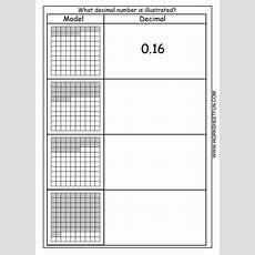 Decimal  Model  Hundredths  4 Worksheets  Free Printable Worksheets Worksheetfun
