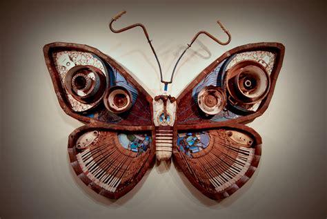 owl   art tree junk art