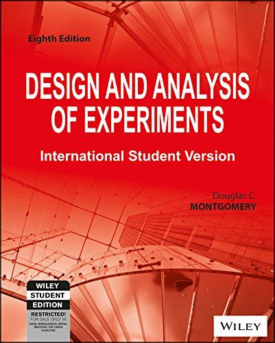design and analysis of experiments 8th edition libro design and analysis of experiments 8th edition ise