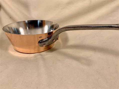 french  mm mauviel   diameter splayed tin lined copper sauce pan rocky mountain