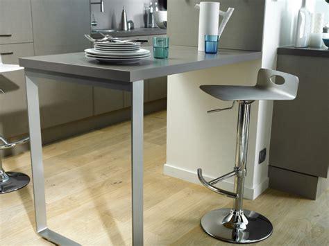 table cuisine escamotable ou rabattable table de bar fixe au mur