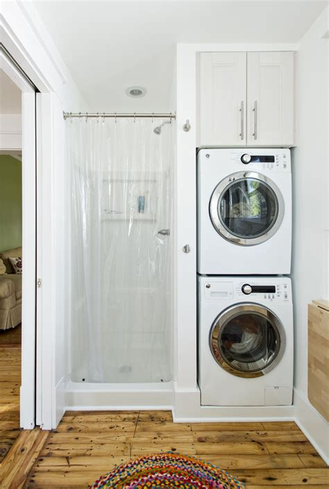 small stackable washer dryer combo invades  laundry