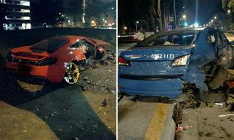 2 Injured After Mclaren And Taxi Get Into Accident At
