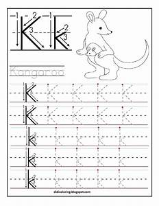 free printable worksheet letter k for your child to learn With learning to write letters for kids