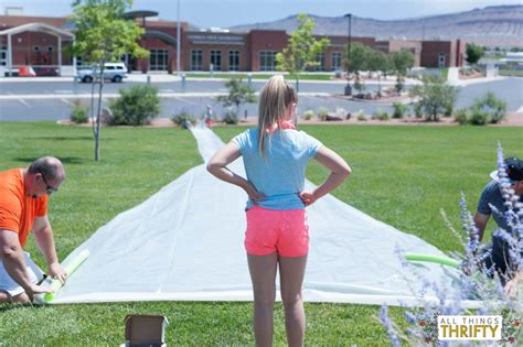 diy large slip n slide 3 all things thrifty