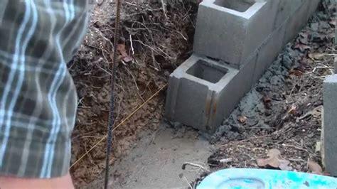 homesteading laying concrete blocks youtube