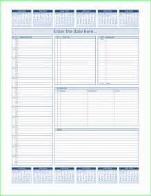 Daily Planner Excel Template Resume Business Template Free Daily Planner Template