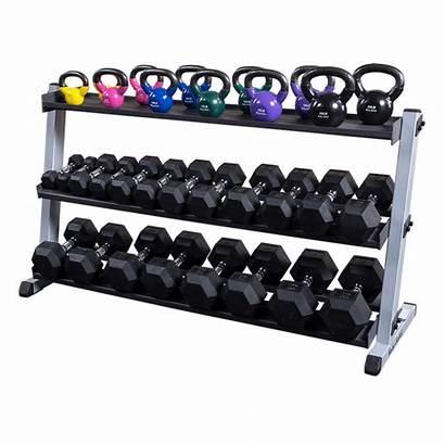 Rack Dumbbell Kettlebell Shelf Solid Optional Dumbbells