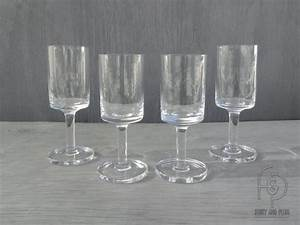 Scandinavian Modern Wine Glasses Squared Off Bowl Thick