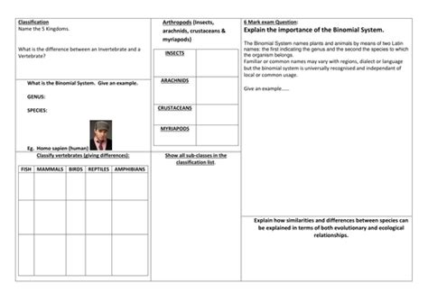 gcse biology classification ppt worksheets by jam2015 teaching resources