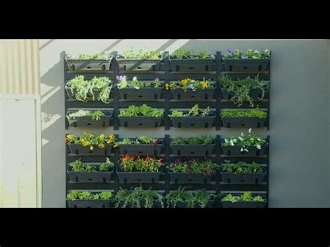 bunnings alfresco vertical garden youtube