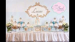 Baptism party themes decorations at home ideas - YouTube