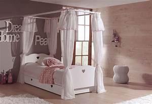 lit baldaquin enfant so romantique de la chambre emilie With chambre avec lit baldaquin