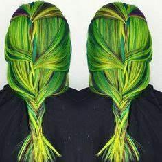 Alexsis Mae Pravana Neon Blue & Green Hair Color