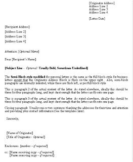 form  official letter  english letters  sample