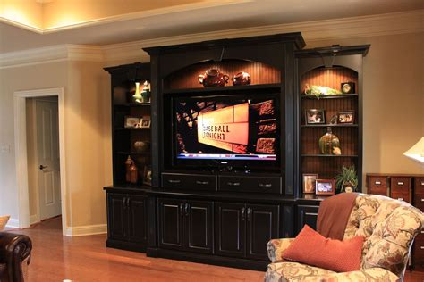 handmade entertainment center  walters cabinets