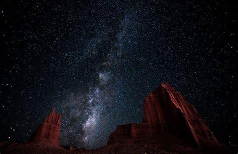 Landscape Nature Milky Way Starry Night Desert
