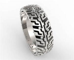 mens tire tread diamond wedding band unique design With tire tread wedding ring