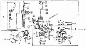 Honda Atv 1980 Oem Parts Diagram For Carburetor    Inlet
