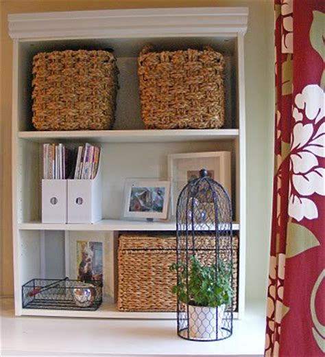 Baskets For Billy Bookcases by Billy Bookcase Ikea Hackers