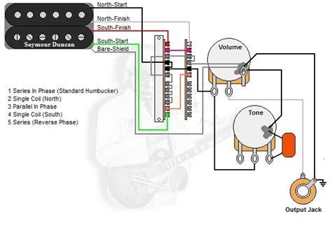 Push Pull Wiring Diagram Jackson by 1 Humbucker 1 Volume 1 Tone 5 Way Lever Switch